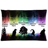 Creative Design Hot Kissen Bezug Vampire Diaries Kissen Rechteck Weiche Custom Kissenbezüge Beste Geschenk 50,8x 76,2cm 2Seiten für Zimmer