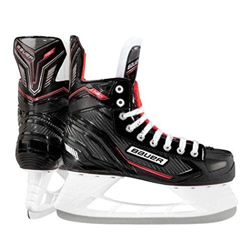 Eishockey-Schlittschuhe von Bauer, NSX, schwarz / rot, UK 9.5 / EU 44.5 / US 10.5