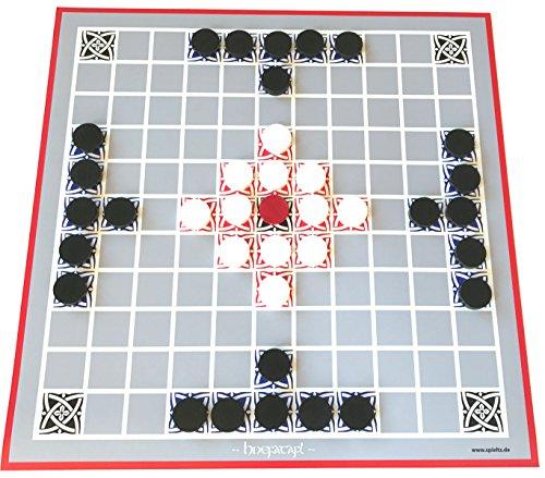 Hnefatafl Brettspiel Large - großer Spielplan + extra-große Spielsteine (Größe L, Spielplan 40x40 cm).