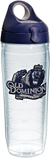 Tervis Old Dominion Monarchs Logo Insulated Tumbler with Emblem and Navy with Gray Lid, 24oz Water Bottle, Clear