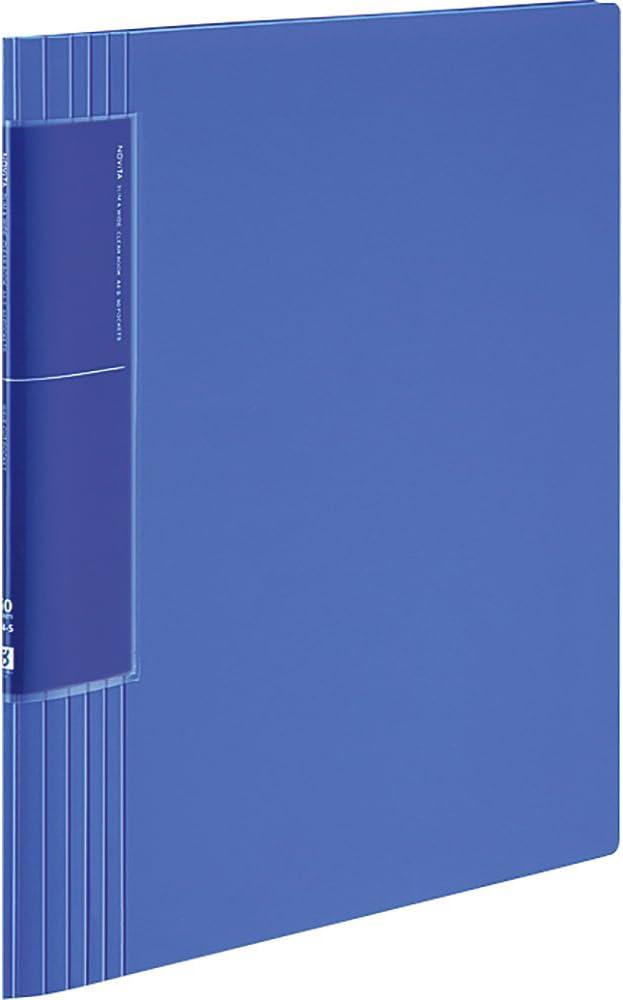 Kokuyo Clear Book Super-cheap Nobitor Wave Cut Pocket L-T Blue 60 Max 62% OFF Sheets A 4
