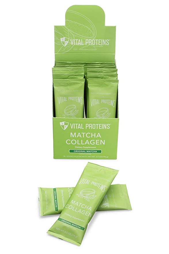 バイオレットケーブル煙Vital Proteins 、コラーゲン抹茶スティックパックボックス、14カウント