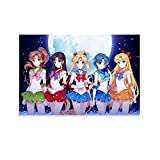 LAJITONG Sailor Moon Poster Japan Anime Poster Cartoon