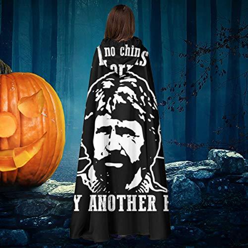 NULLYTG Chuck Norris - Disfraz de Capa de Vampiro con Capucha para Halloween