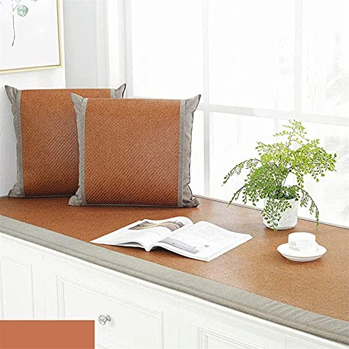 Cojín de suelo super cómodo - Cojín de la ventana de la bahía antideslizante, cojín de banco de verano fresco delgado dormitorio balcón tatami manta alfombrilla de asiento de estera de aletas (tamaño: