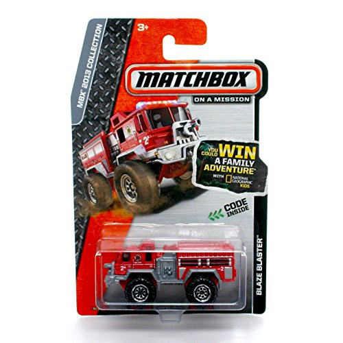 Matchbox Blaze Blaster Firetruck (Red) MBX Heroic Rescue 2013 on a Mission 1:64 Scale Basic Die-Cast Vehicle
