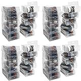 Kurtzy Caja Zapatos Plástico Transparente (Pack de 40) Apto para Zapatos de...