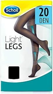 Scholl Light Legs Collant Donna Compressione Graduata 20 Den, S, Nero, 1 Paio