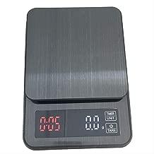 Báscula de cocina Fácil-hand Punch Acero Inoxidable Timing Coffee Scale Escala Electrónica Escala De Distribución Escala de Tiempo Escala 5kg /0.1g