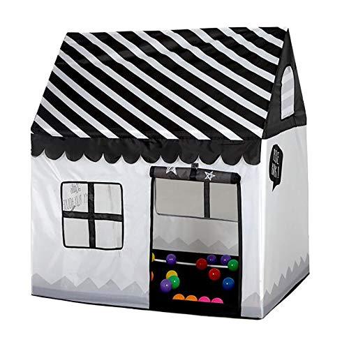 Children's Tent Babyspel Huis Kruipen Tunnel Drukkerijen Jongens En Meisjes Indoor Speelgoed Kasteel Tent Spelen Tent, De Kinderen Openluchttheater Gift,Black and white stripes