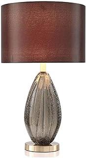 Lampe de table Lampe Cuivre Moderne Moyen Minimaliste Salon Full Study Studiante Chambre à chevet Lampe de chevet Verre Ti...