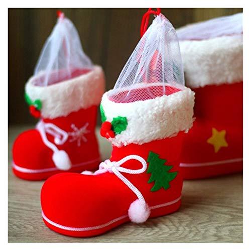 JLZK Fiabilidad de Seguridad Feliz Navidad Regalo Tratamiento Dulces Botella de Vino Bolso Santa Claus Suspender Pantalones Pantalones Decoración Bolsas Papel (Color : M)