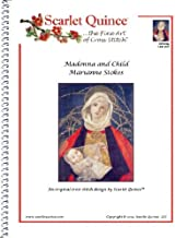 Scarlet Quince STO002lg Madonna and Child by Marianne Stokes Counted Cross Stitch Chart, Large Size Symbols