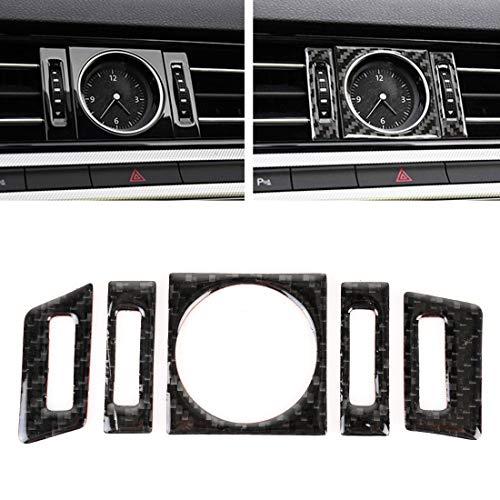 YEYOUCAI 5 unids coche fibra de carbono cuarzo reloj decorativo etiqueta para Volkswagen nuevo Magotan