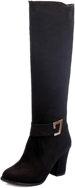 CUTEHEELS Women Knee-High Chunky Boots