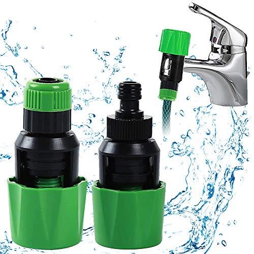 2 Piezas Universal Adaptador de Grifo, Conector universal de Tubo de Cocina para Grifo de Grifo de Agua Para Manguera de Jardín Conector de Tubo Mezclador Adaptador