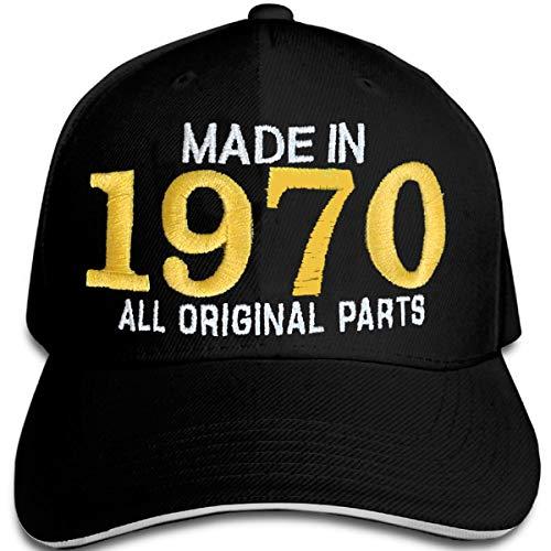 Bombo fabricado en 1970 todas las piezas originales^ sombrero de fiesta de cumpleaños de 50 años, color negro