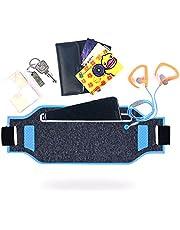 ZHXINYU Running Belt Taille Pack Waterbestendig Runner Sport Fanny Pack Heuptas Fitness Workout Riem voor wandelen, joggen, reizen, Fit iPhone x/8 Plus/8/7/6S Plus, Galaxy Note 8/S9