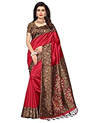 Mrinalika Fashion Womens Art Silk Saree With Blouse Piece (Srja006_Red)