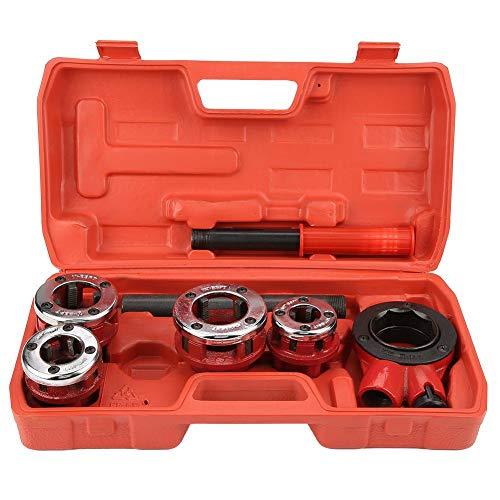 Einfädler-Tool-Kit, stirbt manuelle Klempner Rohr Threading Kit 1/2inch 3/4inch 1inch 1-1/4inch Einfädler-Tool für Home Repair Tool(62B)