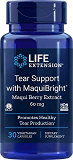 Life Extension Tear Support with Maquibright 60 mg, 30 Vegetarian Capsules (packaging may vary)