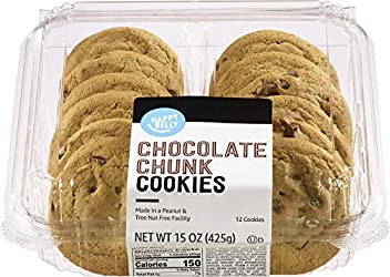 Amazon Brand - Happy Belly Chocolate Chunk Cookies, 15 oz