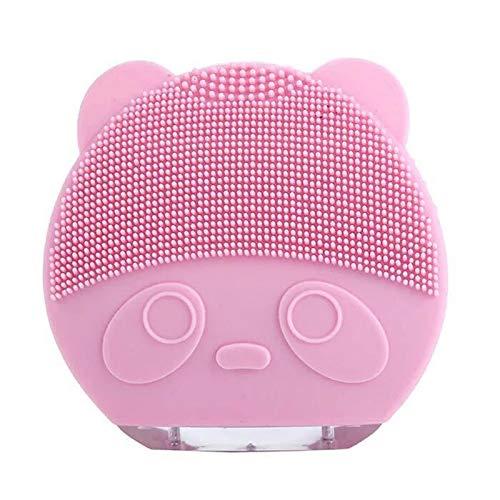 Aparato de limpieza eléctrico A prueba de agua Silicona Limpieza profunda Espinilla Lavadora Masajeador facial en casa con cable de carga USB Antiedad para todo tipo de pieles (color : Rosado)