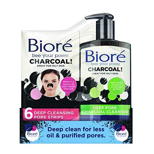 bioRe Face strisce pori kit: antracite e detergente, 200ml