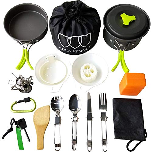 Gold Armour 17 Pieces Camping Co...