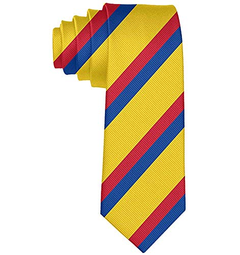 Der Teenager der Geschäfts-bunte kolumbianische Flaggen-Krawatten-dünnen Krawatten-Geschenk-Männer