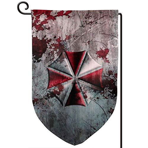 Auld-Shop Resident Evil Umbrella Corporation Gartenflagge Outdoor Yard Dekorative Flaggen Doppelseitige Preisgestaltung für alle Jahreszeiten und Feiertage