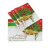CaTaku, tovagliette all'americana Merry Christmas, tovagliette a campana, resistenti al calore, lavabili per feste, cucina, tavolo da pranzo, 12 x 18 cm