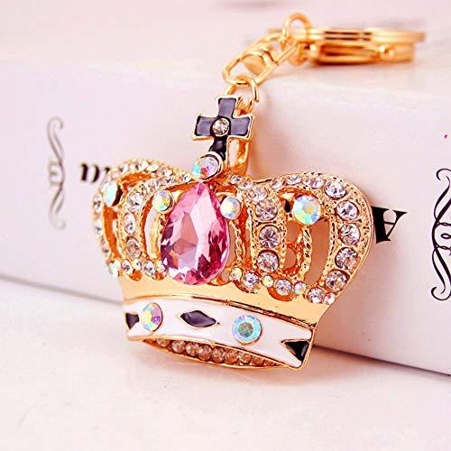 Ou lida Creativo Diamante Joya Corona Llavero Coche Metal Colgante Bolsos Accesorios Llavero pequeña joyería