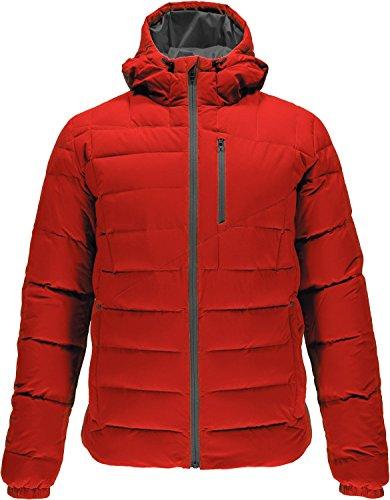 Spyder Men's Dolomite Hoody Down Jacket, Rage/Polar, Large
