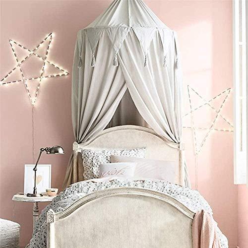 GYPPG Auvent de lit pour Enfants Suspendu moustiquaire pour lit de bébé Nook Castle Game Tent Nursery Play Room Decor-Gris