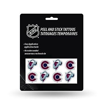NHL Colorado Avalanche Face Tattoos 8-Piece Set