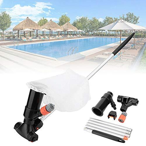 Azonesyeo - Aspiradora de piscina, herramienta de limpieza portátil, elimina la suciedad de la parte inferior de la piscina, extraíble, herramienta de succión de limpieza