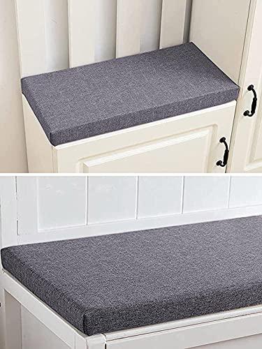 Gartenbank-Kissen für 2- und 3-Sitzer, für drinnen und draußen, 100 / 120 cm, Terrassenschaukel-Auflage (140 x 40 x 5 cm, dunkelgrau)
