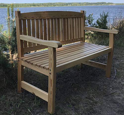 2-Sitzer Gartenbank, Holzbank, Sitzbank, Bänke Massivholz aus Sibirischer Lärche
