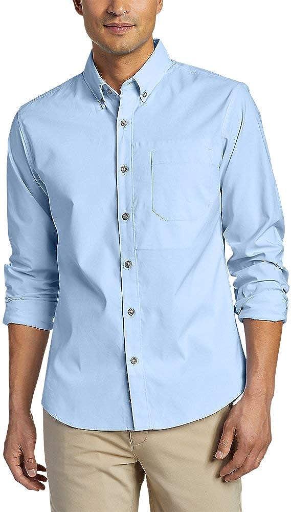 Eddie Bauer Men's On The Go Long-Sleeve Poplin Shirt