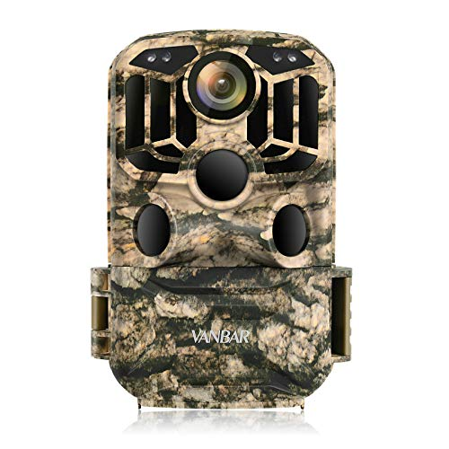 VANBAR Videocamera per selvaggina WLAN 24 MP 1296P Low Glow LED infrarossi con sensore di movimento, IP66, impermeabile con angolo grandangolare di 120° per il monitoraggio di animali selvatici