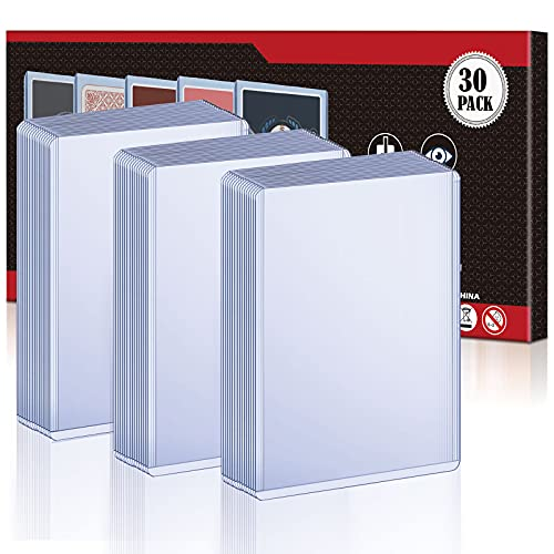 baseball card protectors 30 Count Toploaders Card Sleeves, Top Loader Thick Hard Card Sleeves for Trading Card, Protective Sleeves Holder Fit for Stardard Cards, Baseball Cards, Sports Cards, MTG Cards, Yugioh Cards