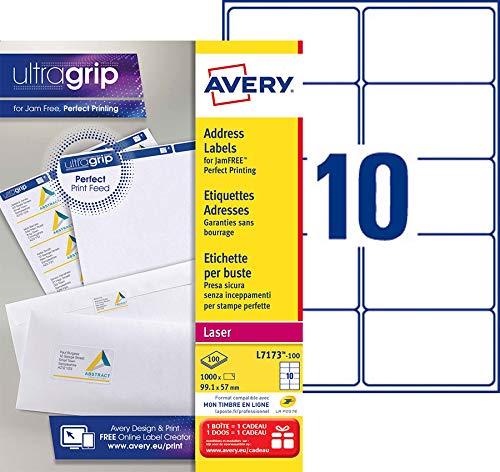 Per stampante multifunzione Labels.Avery L7161 x compatibile 18 Per foglio formato A4 25 pezzi