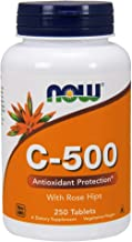 NOW Supplements, Vitamin C-500 with Rose Hips, Antioxidant Protection*, 250 Tablets