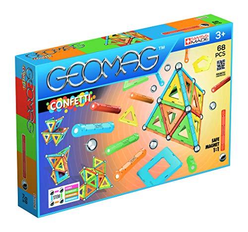 Geomag 00355 - Confetti 68 Teile, Konstruktionsspielzeug, mehrfarbig