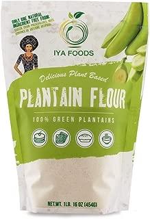 Iya Foods Gluten-Free, Kosher Certified Paleo Premium Plantain Flour, 1 Pound Bag