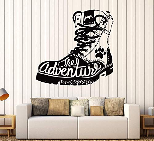 Wall Stickers,Adventure boots tourist travel wall stickers non-toxic PVC waterproof wall stickers home decoration available in different colors 57x61cm