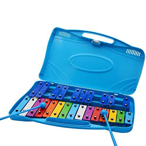 JoaSinc 25 Nota Glockenspiel Xilófono, Instrumento Musical de Xilófono de Percusión Profesional