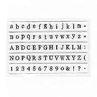アルファベットスタンプクリアミニラバースタンプクラフトカード作成スタンプスクラップブックプランナー