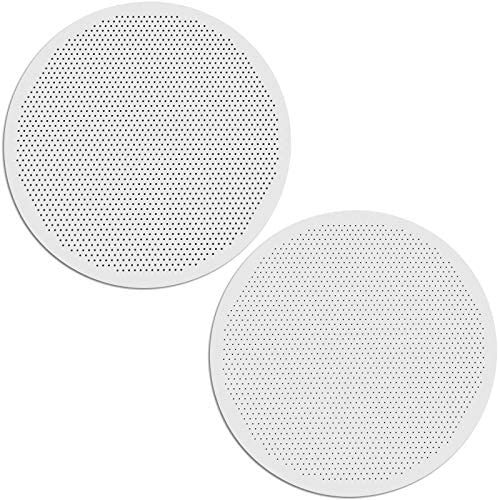 Set of 2 Reusable Metal Coffee Filters for Use with AeroPress Coffee Makers Quality Coated Stainless product image